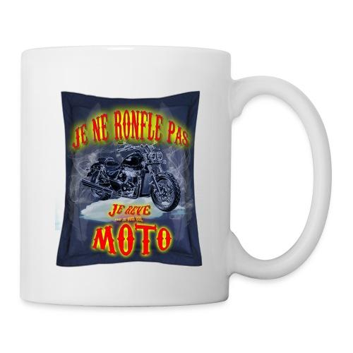 Un motard ne ronfle pas - Mug blanc