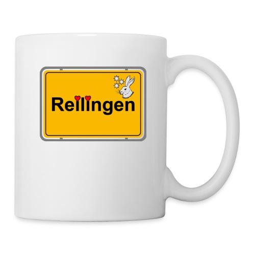 Reilinger Ortsschild - Tasse