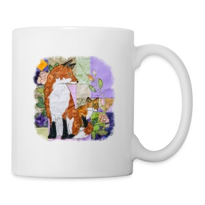 Fox and Cub Design - Mug