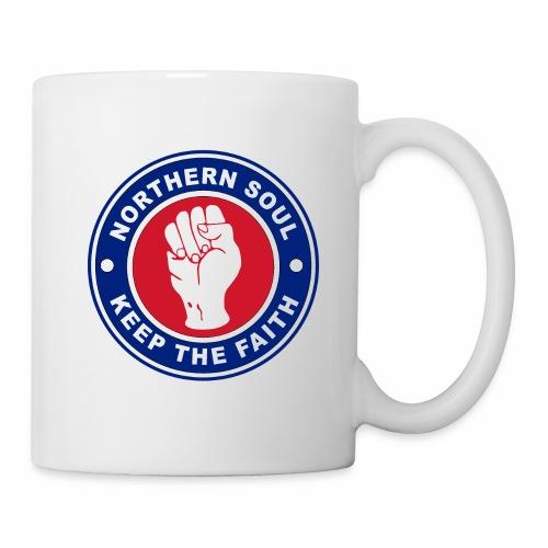 Norther Soul Keep the Faith Logo Union Flag Colour - Mug