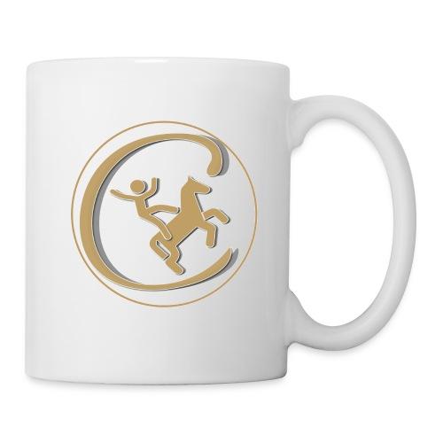 Contre Galop Logo entouré - Mug blanc