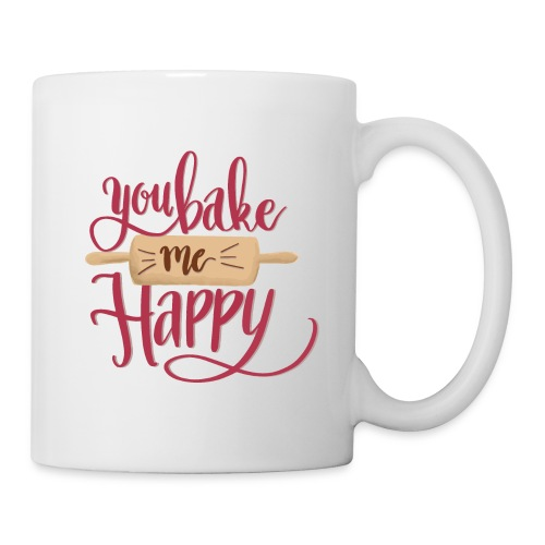 You bake me HAPPY (Red) - Mugg