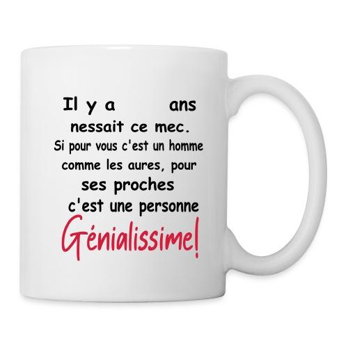 T-SHIRT PERSONNALISABLE/PERSONNALISER/ANNIVERSAIRE - Mug blanc