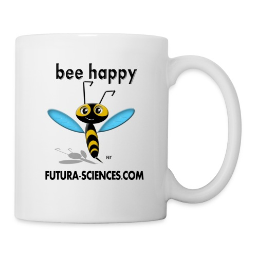 bee happy bon dpi black - Mug blanc