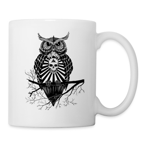 Hibou Psychédélique - Mug blanc