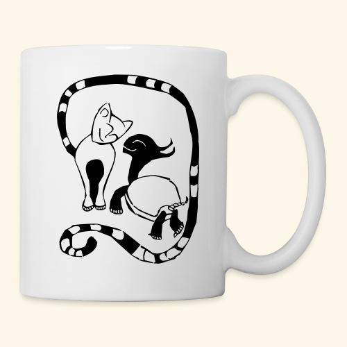 Katze und Schildi - Tasse