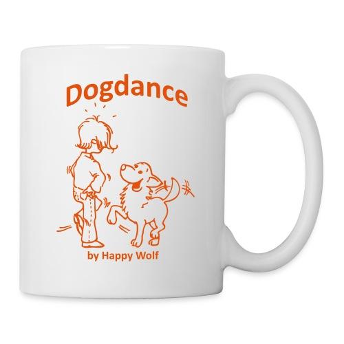 happy wolf dogdance transparent orange1 - Tasse
