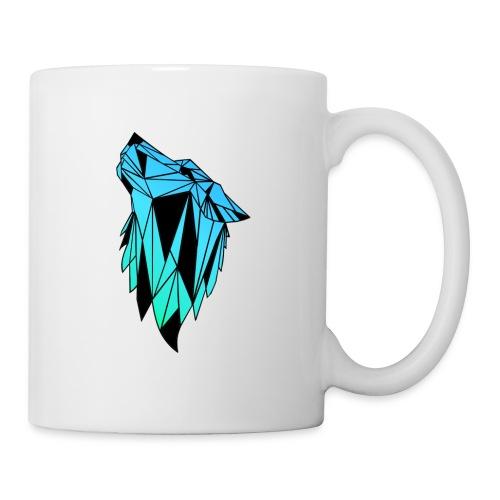 Blau-Schwarzer Wolf - Tasse