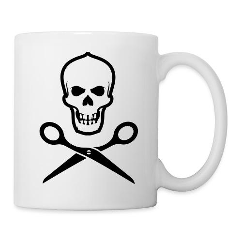 Totenkopf mit Schere - Tasse