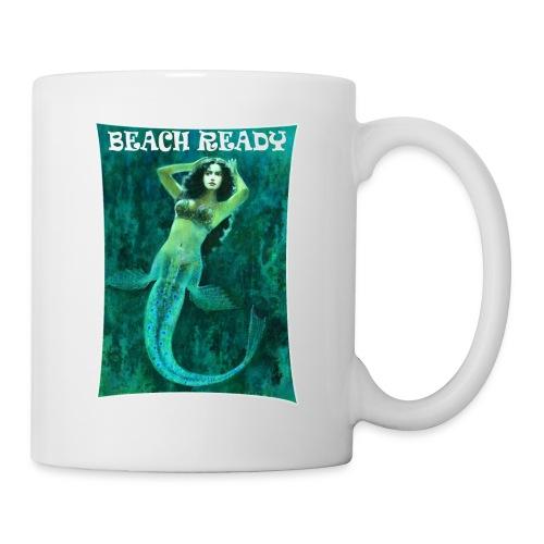 Vintage Pin-up Beach Ready Mermaid - Mug