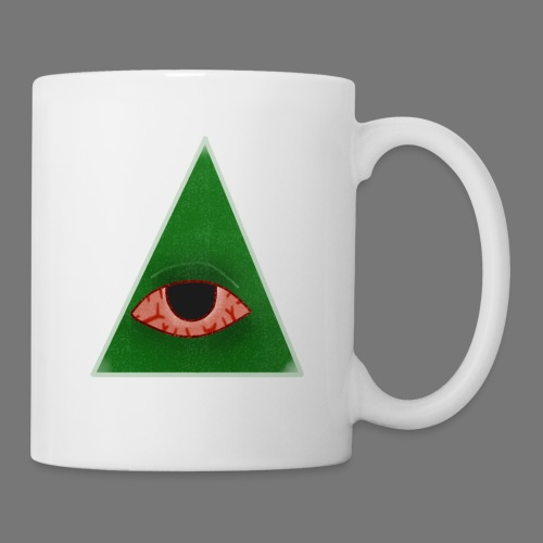 illuminati eye - Taza