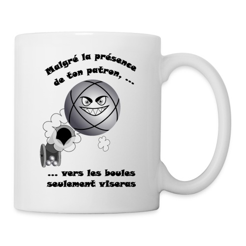 t shirt pétanque patron tireur boule humour FC - Mug blanc