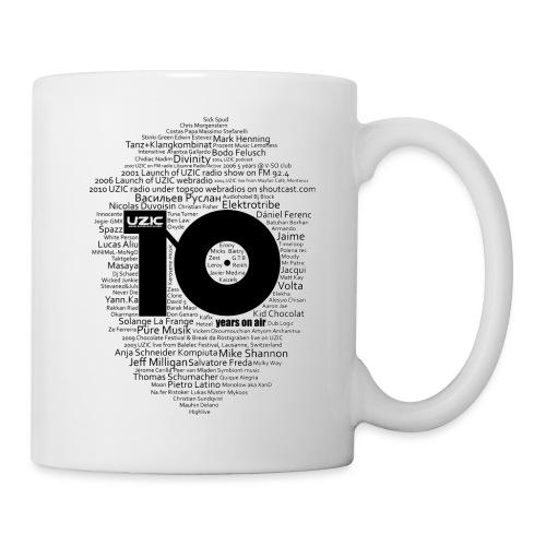 01 tshirt txt noir fond blanc - Mug