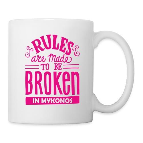 Mykonos Rules - Mug blanc