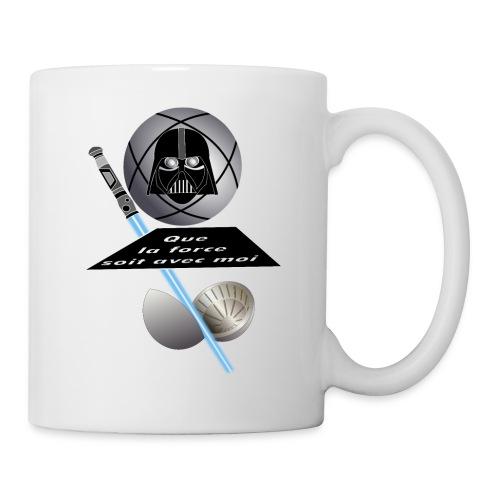 petanque star war force avec moi boule dark vador - Mug blanc