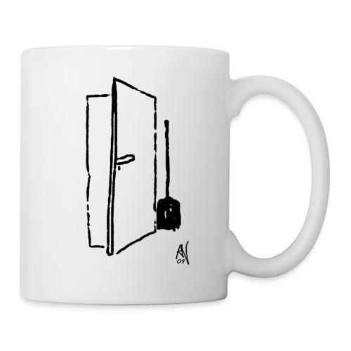 Türe mit Besen - Tasse