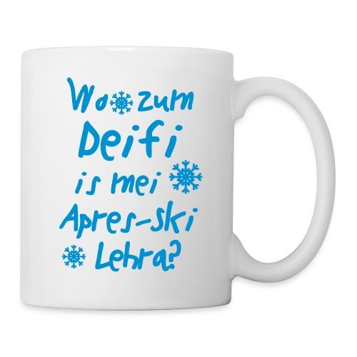 Wintershirt Wo zum Deifi is mei ApresSki Lehra? - Tasse