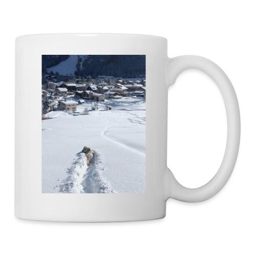 Momo dans la poudreuse - Mug blanc