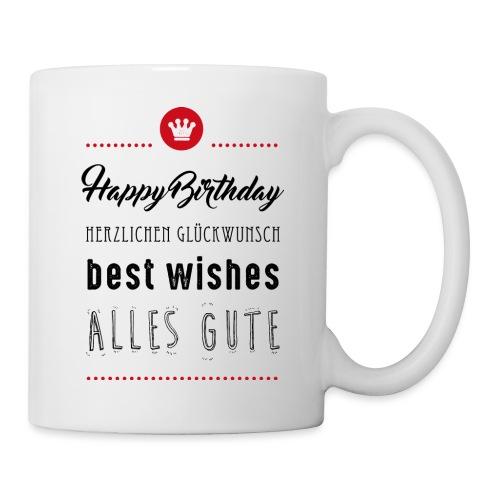 Happy birthday - Alles Gute - Tasse