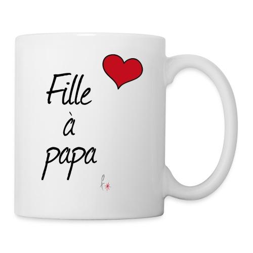fille papa - Mug blanc