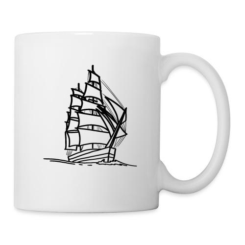 Segelschiff Illustration Meer Schiff Bootsfahrt - Tasse