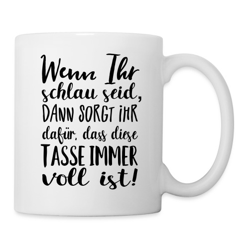 Kaffeetrinker Geschenk Tasse Kaffee Spruch - Tasse