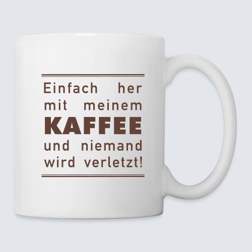 Her mit meine Kaffee - Tasse