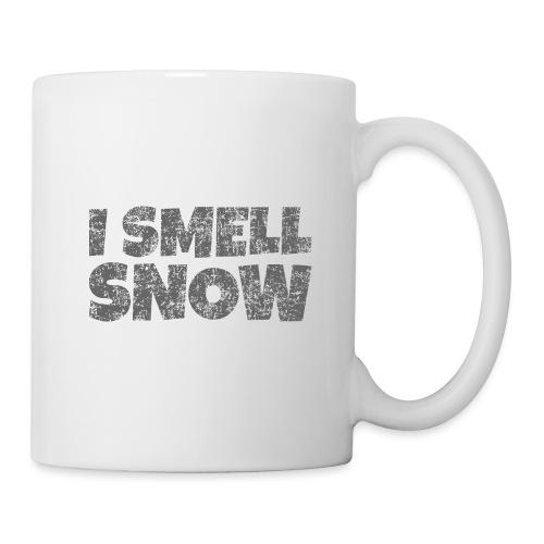 I Smell Snow (Dunkelgrau) Schnee, Wintersport, Ski - Tasse