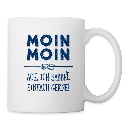 Moin Kapitän maritimer Schnack - Tasse