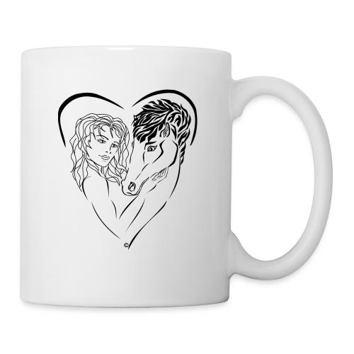 Cheval cavalière passion ❤ FC - Mug blanc