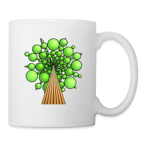 Kugel-Baum, 3d, hellgrün - Tasse