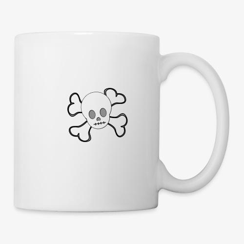 Weißer Totenkopf - Tasse