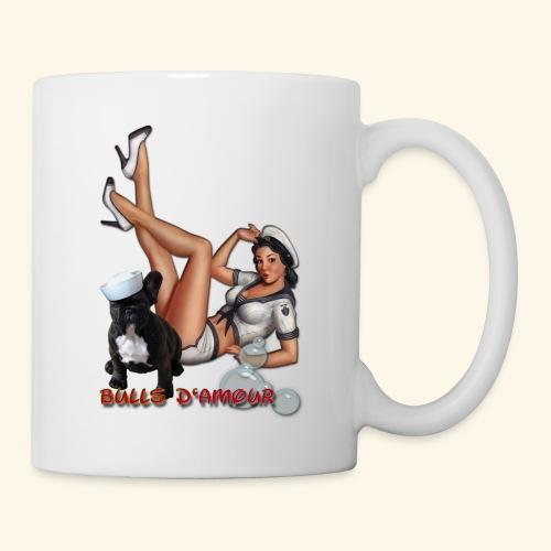 Pin Up navy bulldog - Mug blanc