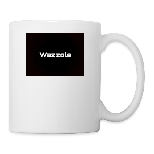 Wazzole plain blk back - Mug