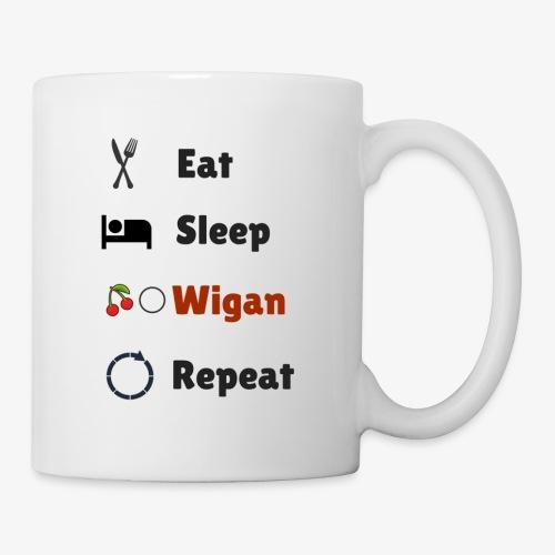 Eat Sleep Wigan Repeat - Mug
