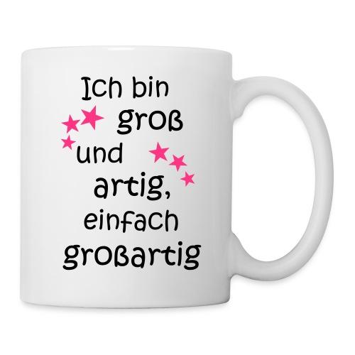 Ich bin gross und artig = großartig pink - Tasse