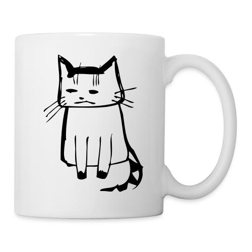cat drawings on t shirt - Tasse