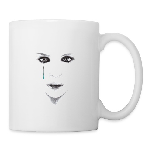 Blue tear - Mug blanc