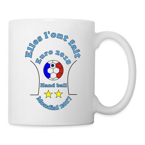 handball euro 2018 bleues championnes doublé 2017 - Mug blanc