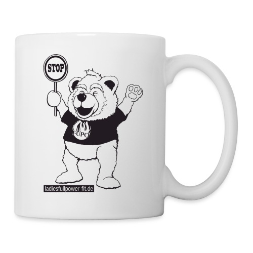 FUPO der Bär. Druckfarbe schwarz - Tasse