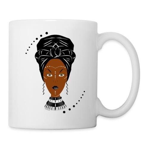 African Black/White Wrap - Mug