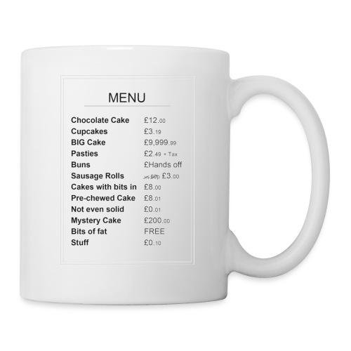 Cake Shop Menu - Mug