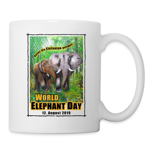 Welt-Elefanten-Tag 12. August 2019 - Tasse