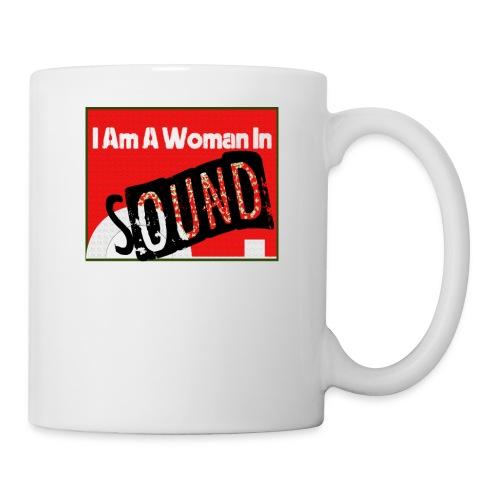 I am a woman in sound - red - Mug