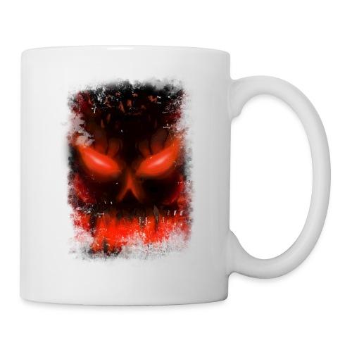 demon skull - Mug blanc