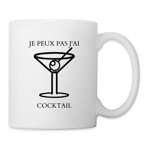 MUG: JE PEUX PAS J'AI COCKTAIL - Mug blanc