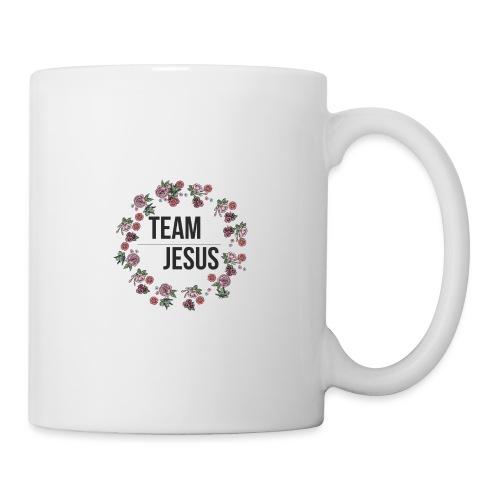 Team Jesus - Christliches Shirt Design Rosenblüten - Tasse