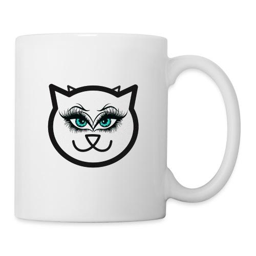 Hipster Cat Girl by T-shirt chic et choc - Mug blanc