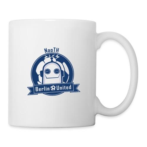 Berlin United - Happy Robot blue with border - Tasse