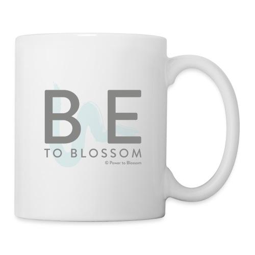 Be to blossom with swoosh (gray) -Power to Blossom - Mug